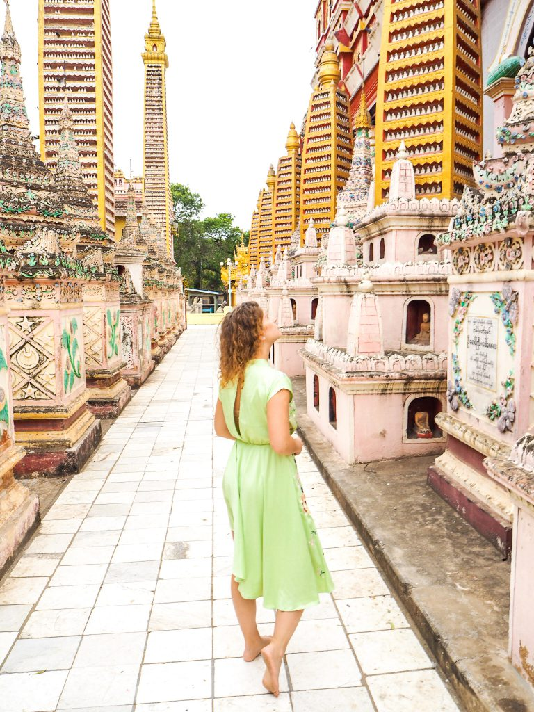 Girl looking at a temple - same preset