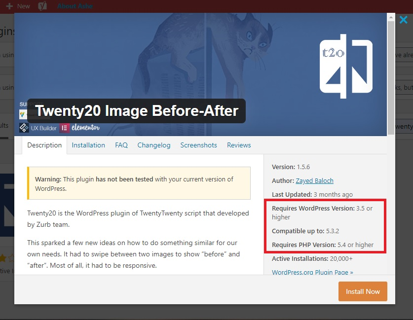 more details to the before after plugin in WordPress