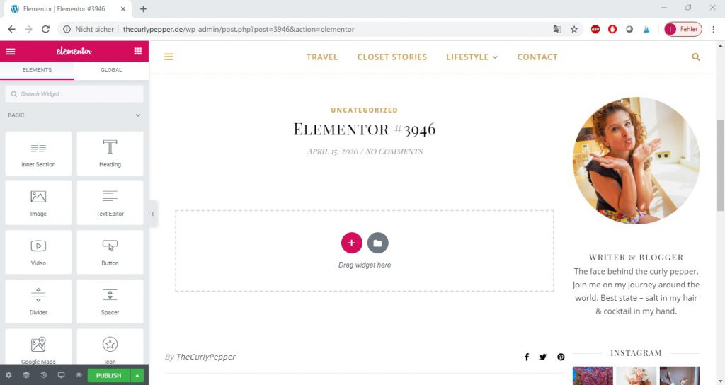 How to use the Elementor plugin in WordPress